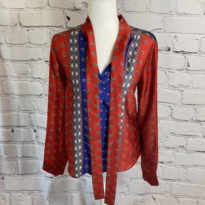 Stunning Marciano blouse with attached scarf.